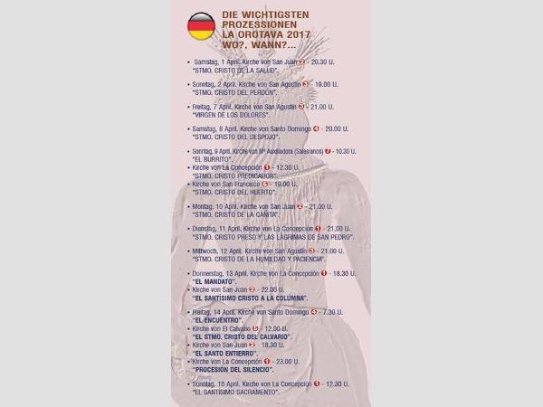 Mehrsprachige Event-Broschüre für La Orotava.