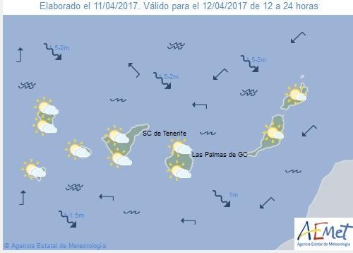 Wettervorschau für Mittwoch, 12. April 2017.