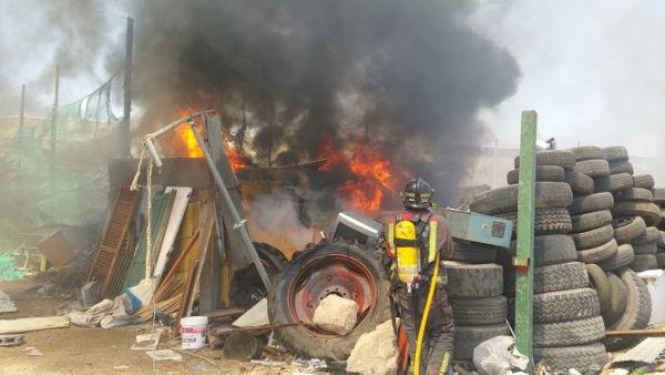 Die Flammen waren dank des Löscheinsatzes schnell unter Kontrolle.