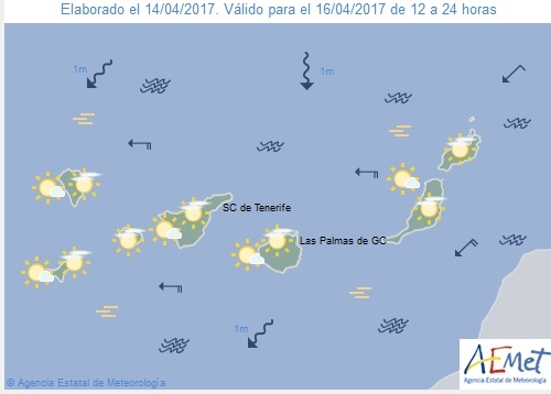Wettervorschau für Sonntag, 16. April 2017.