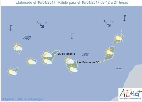 Wettervorschau für Dienstag, 18. April 2017.