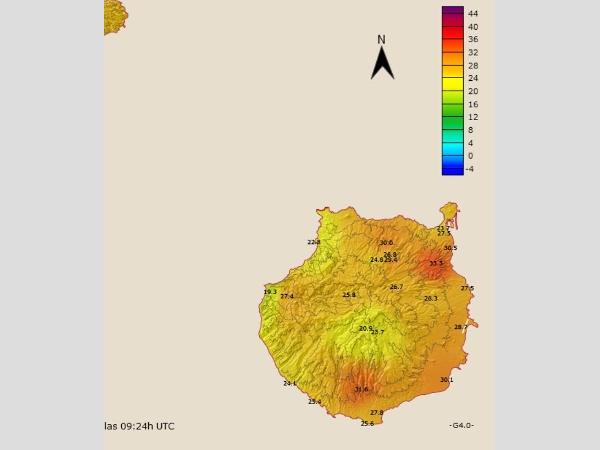 Geografische Hotspots mit besonders hohen Temperaturen.