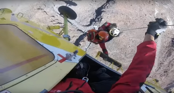 The mission was filmed by a paramedic with a GoPro camera on his helmet