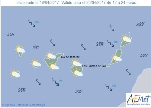Wettervorschau für Donnerstag, 20. April 2017.