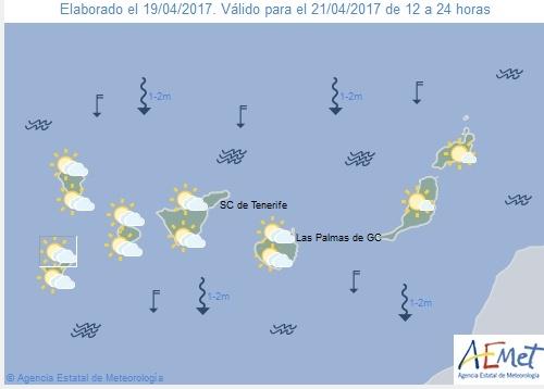 Wettervorschau für Freitag, 21. April 2017.