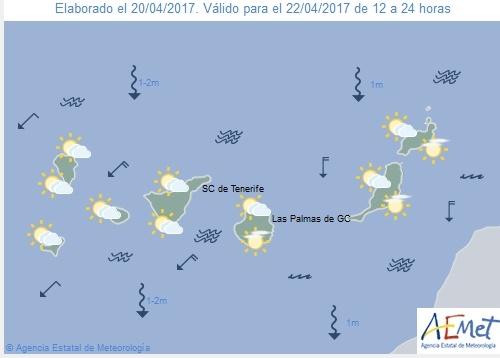 Wettervorschau für Samstag, 22. April 2017.