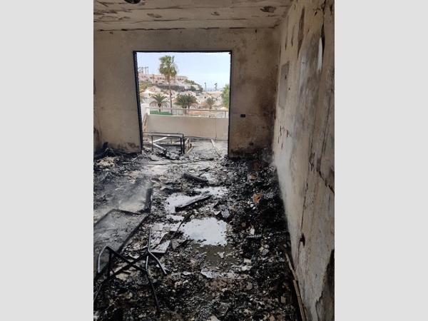 Das betroffene Appartement ist völlig abgebrannt.