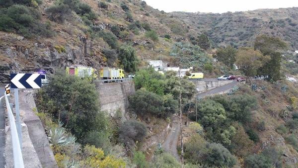Rettungseinsatz im Barranco de las Goteras.