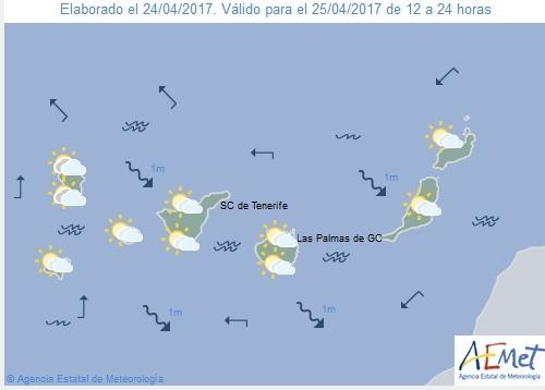 Wettervorschau für Dienstag, 25. April 2017.