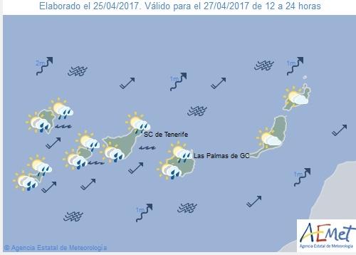 Wettervorschau für Donnerstag, 27. April 2017.