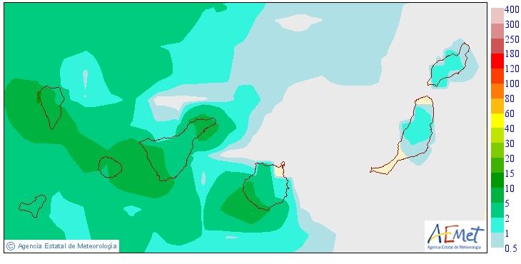 Niederschlagswahrscheinlichkeit am Donnerstag.