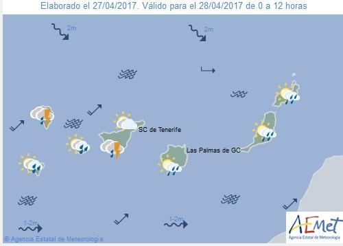 Wettervorschau für Freitag, 28. April 2017.