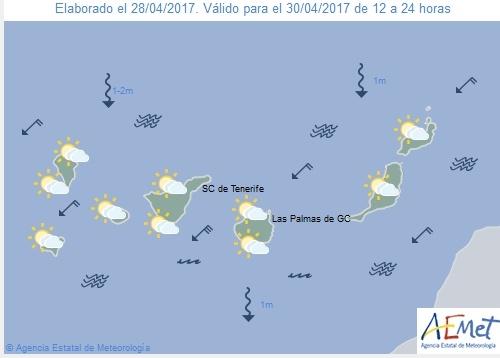Wettervorschau für Sonntag, 30. April 2017.