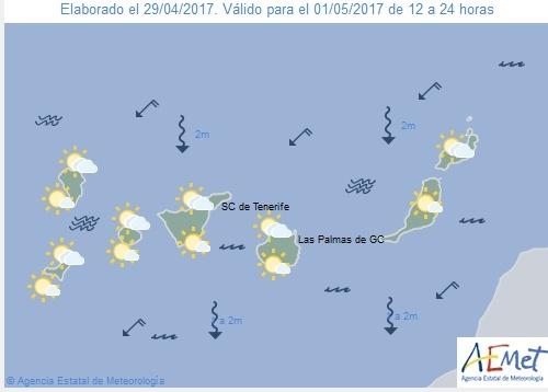 Wettervorschau für Montag, 1. Mai 2017.