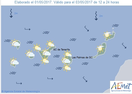 Wettervorschau für Mittwoch, 3. Mai 2017.