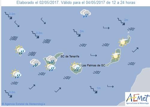 Wettervorschau für Donnerstag, 4. Mai 2017.