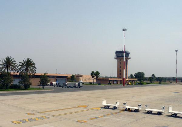Der Flughafen von Agadir in Marokko