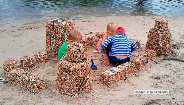 Oder sollen die Kinder ihre Sandburgen aus Zigarettenkippen bauen?