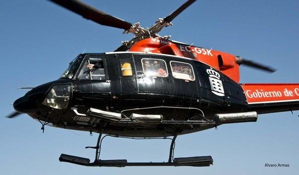 Die Hubschrauber des GES fliegen Rettungseinsätze. Im Sommer auch Kontrollflüge zur Überwachung der Wälder.
