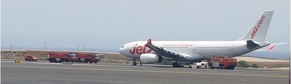 Die Jet2-Maschine blockierte die Start- und Landebahn des Südflughafens sechs Stunden lang.