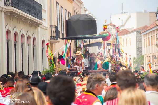 Der Höhepunkt und Abschluss des Corpus-Cristi-Festes in La Orotava ist die Romería.
