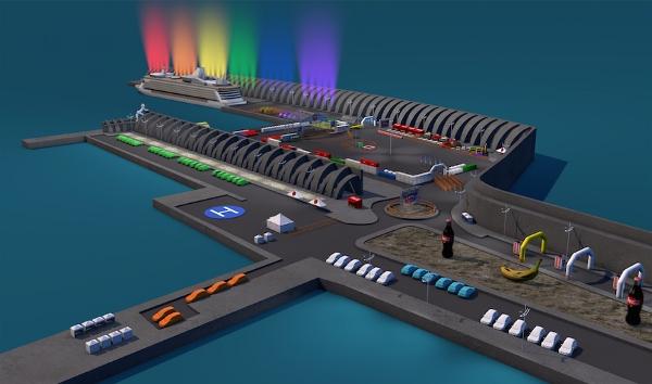 Der Hafen von Tazacorte wird in den Symbolfarben erstrahlen.