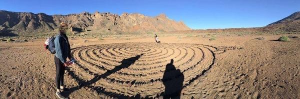 Eine Wandergruppe hat die gewaltige Spirale um Ucanca-Tal entdeckt.