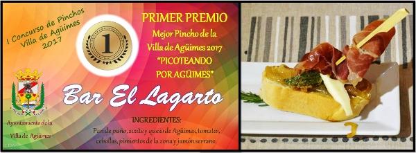 So kann beispielsweise ein Pincho aus Brot, Tomate, Käse und Paprika der Region mit rohem Schinken aussehen.
