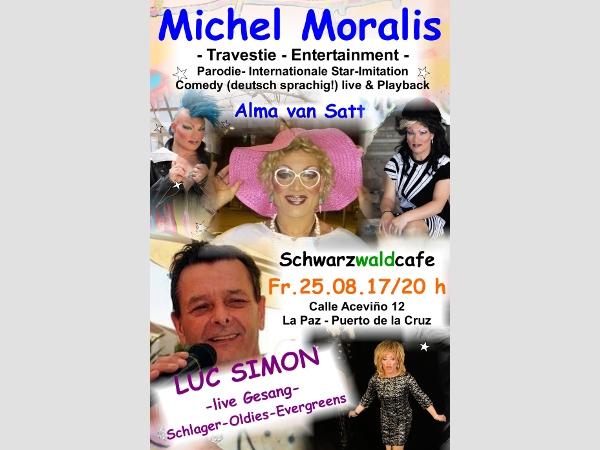 Travestie-Show mit Alma van Satt.