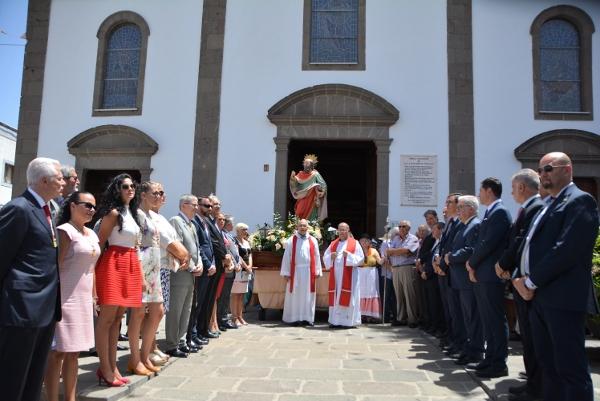 Die Prozession zu Ehren von San Bartolomé in Tunte fiel dieses Jahr wegen des Unfalls aus. Die Aufnahme entstand unmittelbar vorher.