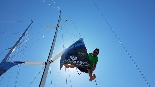 Die letzten Vorbereitungen werden getroffen, bevor es von Huelva nach La Gomera geht.