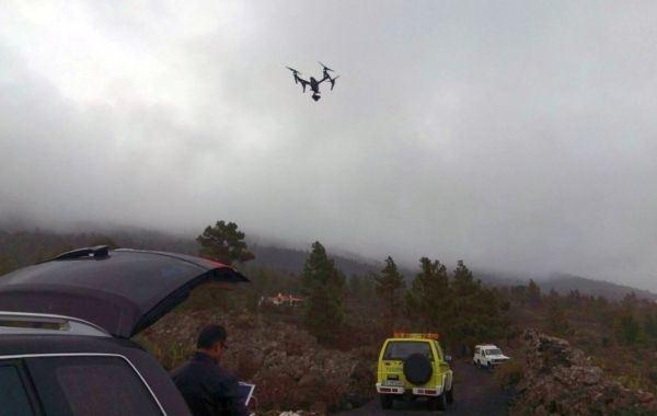 Die Drohne ermöglicht Zugang zu besonders steilem und gefährlichem Gelände.
