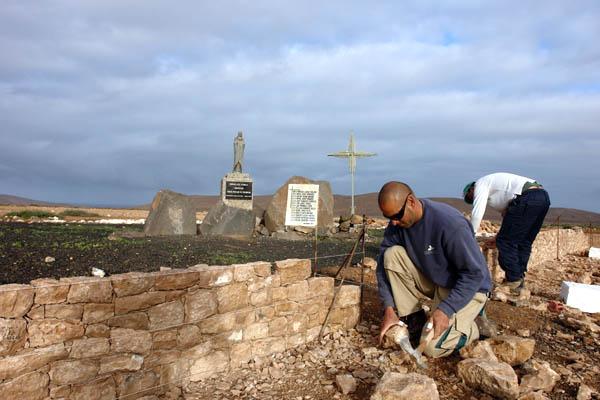 Die Anlage und das Denkmal selbst werden von Grund auf renoviert