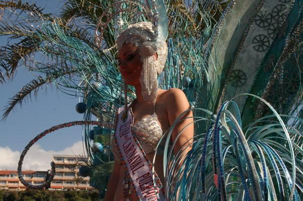 Karneval in Puerto de la Cruz 2009 - Die Karnevalskönigin Elsa Eichner Hernández