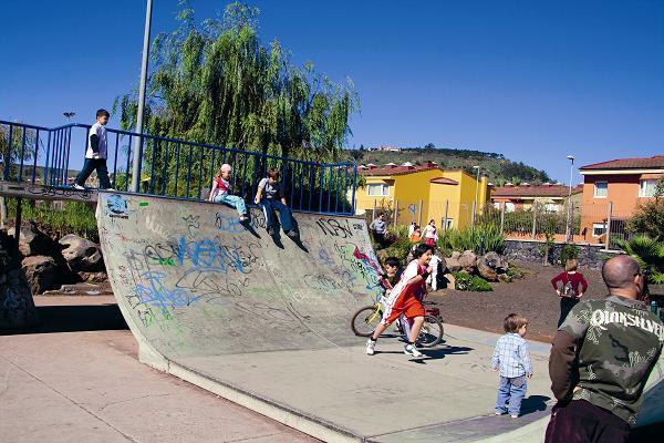 Rad- und Skater-Parcours im Stadtpark.