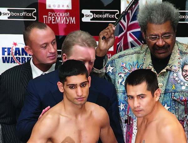 Khan and Barrera before the fight