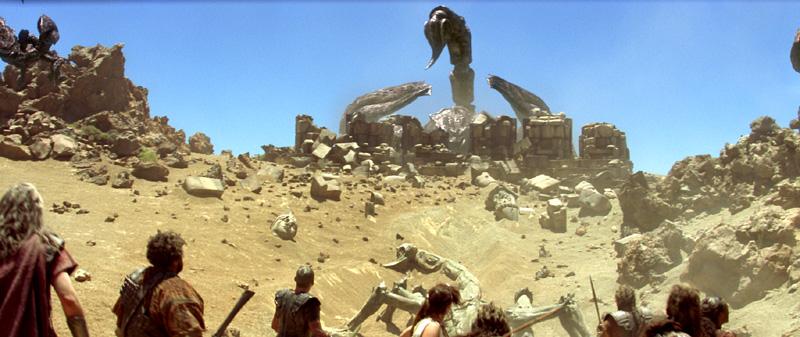 Krieger beim Krawall im Krater