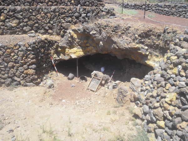 Die Höhle mit den archäologischen Fundstücken aus der Guanchenzeit widerspricht der Freimaurerthese.