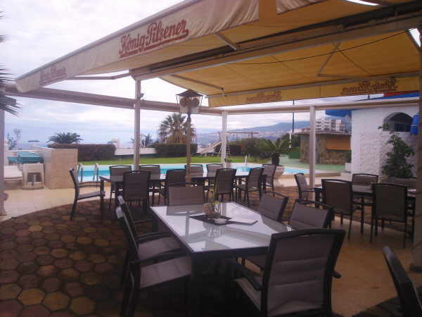 Im Clubrestaurant Miramar herrscht eine lockere Atmosphäre.