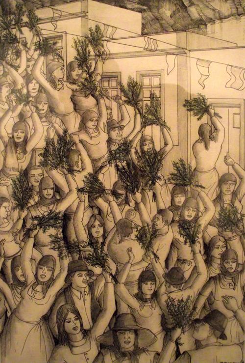 Folkloristische Zeichnung