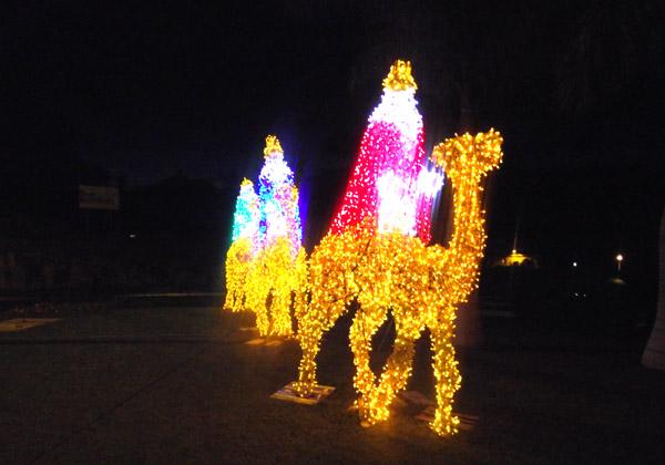 Leuchtfiguren der Heiligen Drei K�nige in La Laguna