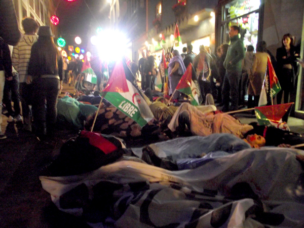 Protest von Saharai-Sympathisanten un der