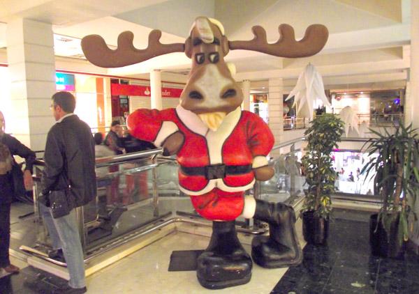 Rentier Rudolf in Arbeitskleidung