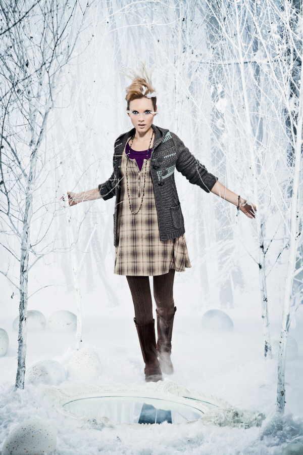 Mädchenhaft und total gemütlich: Karokleider sind auch im kommenden Jahr aus der Mode nicht mehr wegzudenken