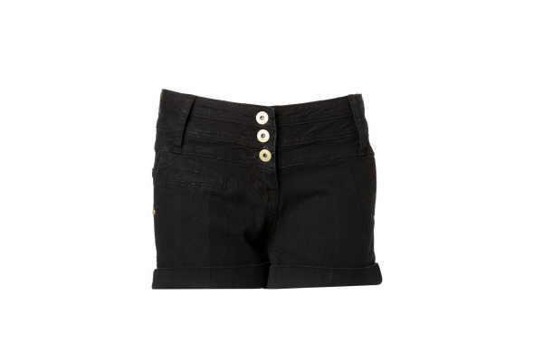 Kurz und gut: Knappe Short in Black Denim