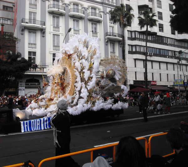 Die umjubelte Königin des Karnevals von Santa Cruz.