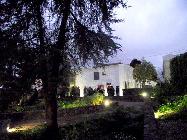 Die Rückfront des Hauses