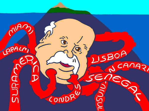 Karikatur von ALIX-F�rderer Ricardo Melchior