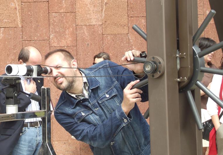 Fernrohr und Hand: Der optische Telegraph im Einsatz