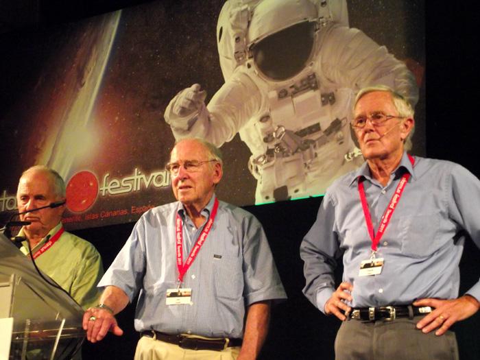 Anders, Lovell, Duke (v.l.): Raumfahrer a.D.